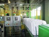 Potato starch bagging line - 25 kg bags.
